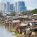 Squatter village around Pasig area Manila Philippines.